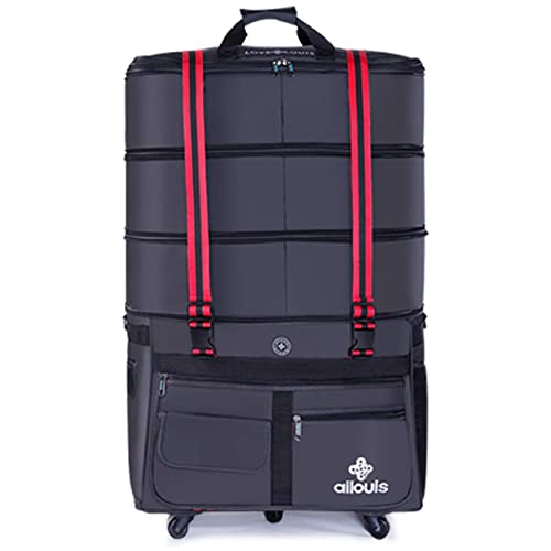 ailouis Expandable Extra Large Wheeled Travel Duffel Luggage Bag 36 Inch c268e3772add8