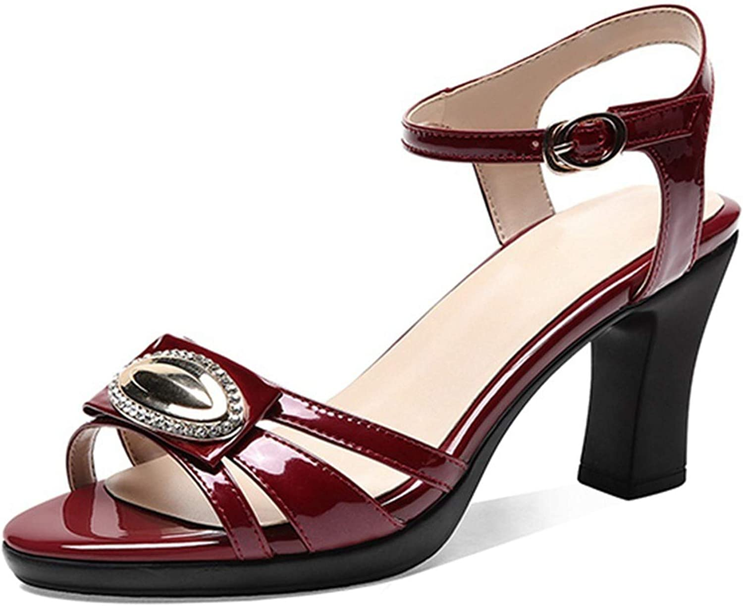 SANDIP MIKEY Genuine Leather Gladiator Sandals Women Ankle Strap High Heels Summer Party Dress shoes