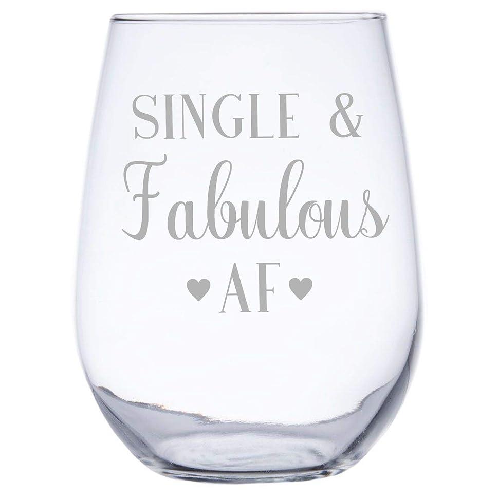 反響するシガレットヶ月目InkPonyArt シングル&ファビュラスAF 17オンス ステムレスワイングラス 姉妹 親友 お母さんへの素晴らしい贈り物