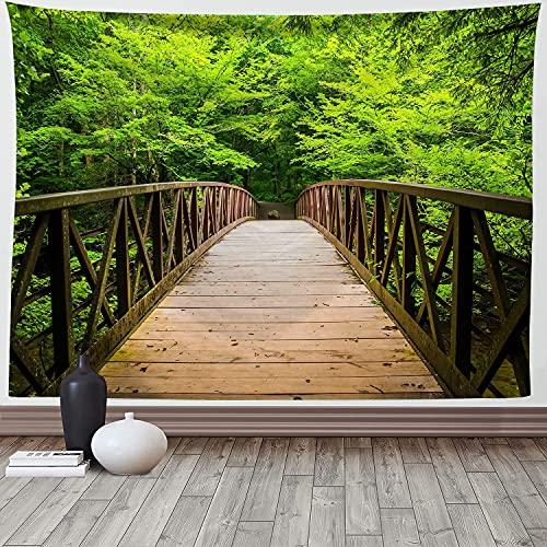 Paisaje natural bosque verde tapiz colgante de pared dormitorio paisaje primitivo árbol gigante alfombra colgante de pared alfombra A2 150x200cm