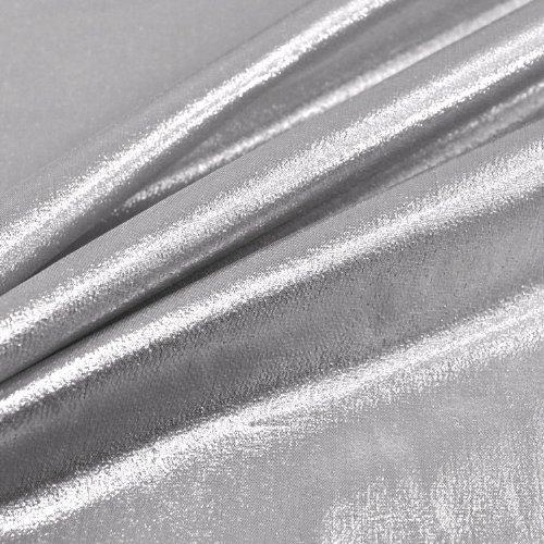 Metálico de lámina plateada Lame e instrucciones para hacer vestidos Decor Craft una tela 114,3 cm - 114 cm, ancho