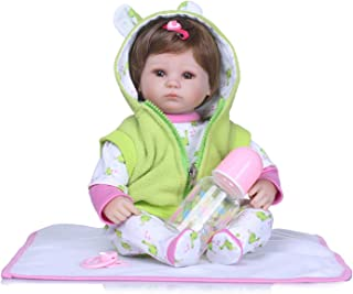 TERABITHIA 16 inch Rare Alive Newborn Baby Dolls That Look Real and Feel Real,Preemie Girl Doll Made of Silicone-Like Vinyl and Weighted Body