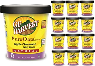 GF Harvest Pure Oats Apple Cinnamon with Stevia Oatmeal Cups, 12 Count
