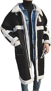 メンズ ムートンコート ボアコート ロングコート 秋冬 無地 防寒服 チェスターコート 防寒ジャケット スエード ゆったり 暖かい おしゃれ アウター 通勤 通学 ファッション