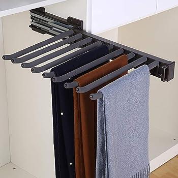 FKKURACK Porte-Pantalons Coulissant Color : Right 9 Paires de cintres pour Pantalons pour penderie-460mm Rail de Suspension Extensible pour Porte-Cravates