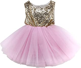 6715a8ebdf231 YOUNGER TREE Toddler Baby Girls Dress Sleeveless Sequins Party Dresses  Princess Lace Tulle Tutu Dress
