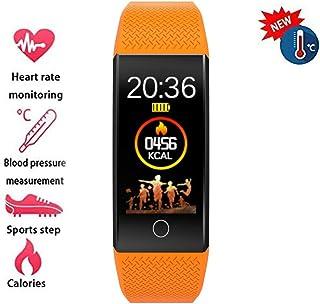 YUN Clock@ Fitness Tracker Medición Termómetro Reloj Inteligente con Pulsómetro Y Presión Arterial Relojes Deportivos GPS Impermeable IP67 Monitor De Ritmo Cardíaco Actividad para Mujer