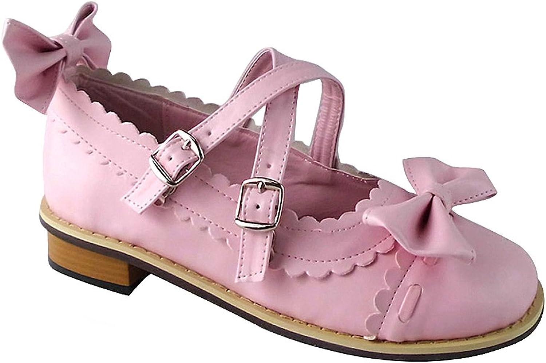 Mtxc Women's Lolita PU Leather Punk Doll shoes