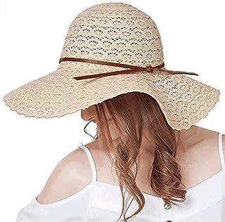 Summer Beach Sun Hats For Women Foldable Floppy Travel Packable UV Hat Cotton Wide Brim Fashion Hat