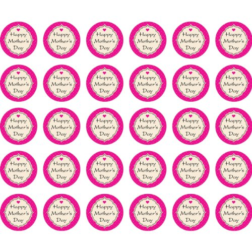 "Happy Mother's Day 1-1/2"" Round Labels - 30 Stickers Per Sheet, 1 Sheet Per Pack Photo #2"