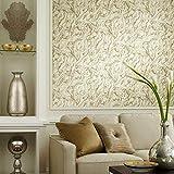 RoomMates Papel pintado de mármol dorado Peel and Stick, 20.5 pulgadas x 16.5 pies