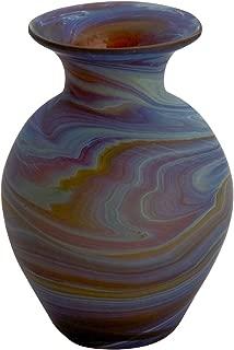 Ten Thousand Villages Hand Blown Phoenician Glass Vase 'Ancient Beauty Bud Vase'
