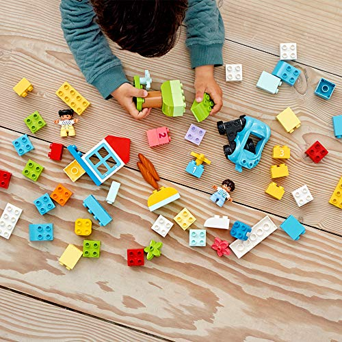 LEGO DUPLO Classic Brick Box 10913 First Set with Storage Box, Great Educational Toy for Toddlers 18 Months and up (65 Pieces)