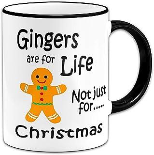 Funny Mug Gingers are for Life Not Just for Christmas Funny Mug + Black Handle