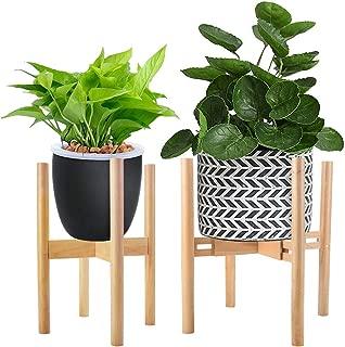 Adjustable Plant Stand Mid Century Modern Planter Stand Width 9