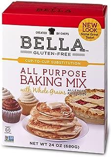 Bella Gluten-Free All Purpose Baking Mix Premium Casein-Free Healthy Flour (24 Ounce, 6 Pack)