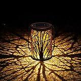 Solarlampen für Außen | infinitoo LED Solarlaterne Dekorative Solarlampe für Garten Wasserdicht Hängbare Solar Laterne Dekolampe im Freien für Terrasse, Weg, Hof, Rasen