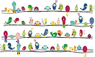 decalmile Colorful Birds Wall Stickers Kids Room Wall Decor Peel and Stick Removable Vinyl Wall Decals for Kids Bedroom Baby Room Nursery Playroom