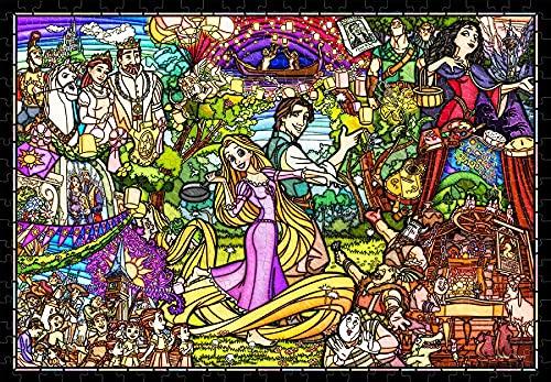 ジグソーパズル 塔の上のラプンツェル ストーリー ステンドグラス 【ステンドーアートぎゅっと】500ピース (25x36cm)