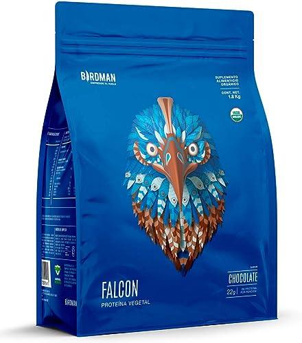 Birdman Falcon Protein Proteina Vegetal USDA Organica En Polvo (Vegana), 22gr proteina, Sin inflamacion, Sin acne, 60...