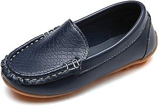 Vorgelen Mocasines de Cuero para Niños Moda Casual Zapatos del Barco Chicos Chicas Linda Comodidad Loafers Antideslizante ...