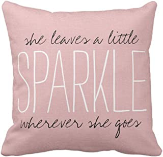 Emvency Throw Pillow Cover Inspirational Believe In You Quote With Bird Decorative Pillow Case Girly Home Decor Square 18 x 18 Inch Cushion Pillowcase
