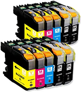 Tonerstocks 10 Pack Replacement Ink Cartridge Combo For Brother LC203 XL LC203XL (4 Black, 2 Cyan, 2 Magenta, 2 Yellow) For MFC-J460DW MFC-J480DW MFC-J485DW MFC-J680DW MFC-J880DW MFC-J885DW