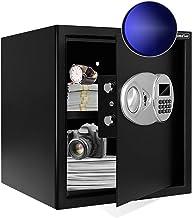 JUGREAT Safe Box with Sensor Light,Electronic Digital Securit Safe Steel Construction Hidden with Lock,High Capacity Elect...