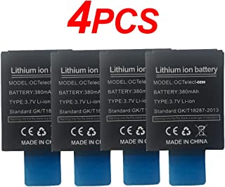 4PCS Smart Watch Battery LQ-S1 Rechargable Lithium Battery with 380MAH Capacity as Well as fit for RYX-NX9,SCX-M9-CE,JHCY-S1,LHL-M9-CE,YX-W9B,M9
