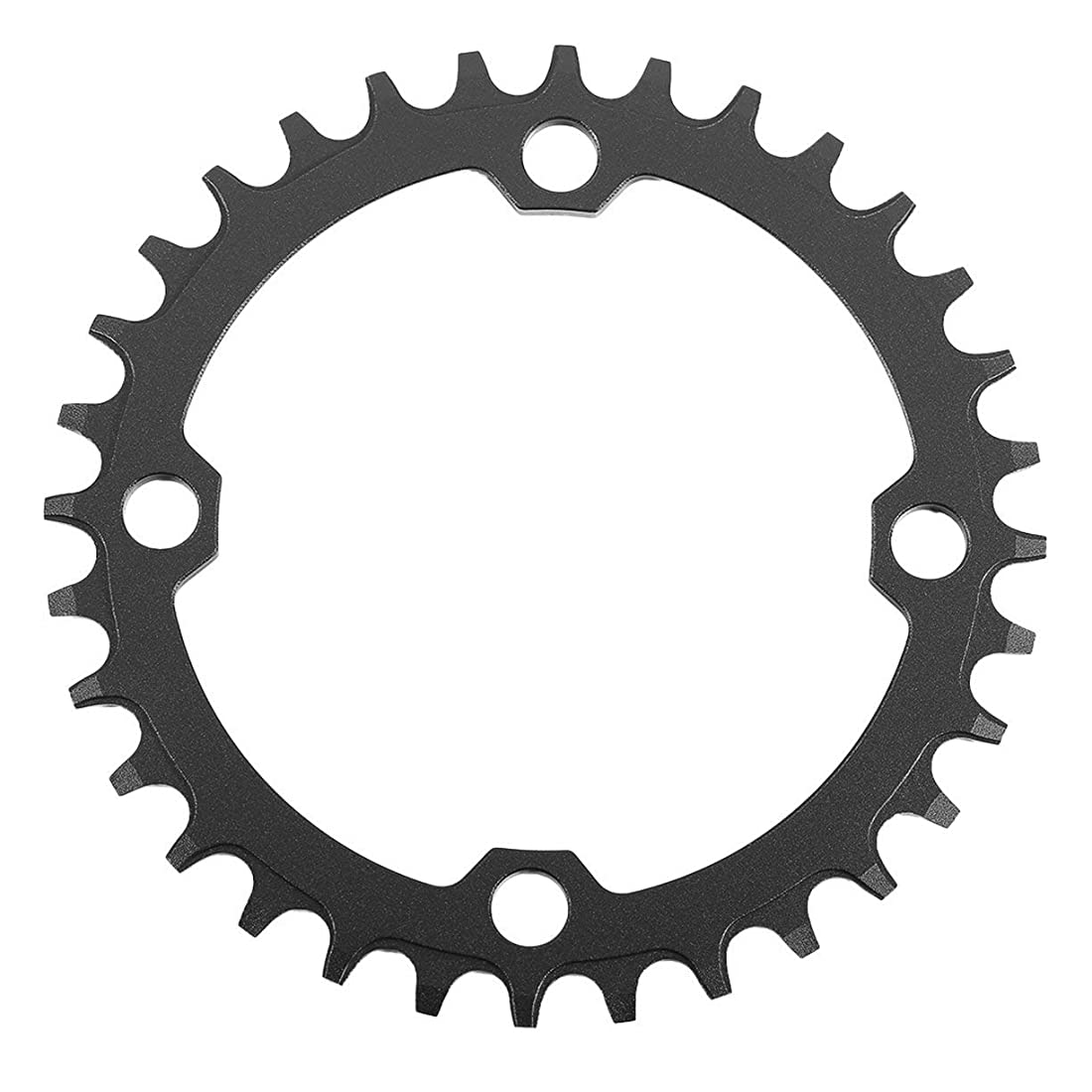 彼らはエッセンスフロントDECKAS Narrow Wide Bike MTB Crank Round Oval Chainring Chain Ring自転車Chainwheel Bike Circle Single Plate-ブラック