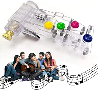 One-Key Chord Practice Tool, DELFINO Guitar Chord Learning System Device Just Press the Buttons Play Guitar Learning Syste...