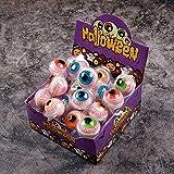 QFL 子供のためのバルクおかしいホラーハロウィンキャンディーで砂糖菓子眼球赤いグミキャンディ カラフルな砂糖 (Size : Eyeball Gummy [About 30 pieces])