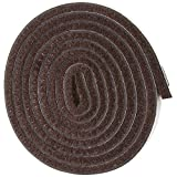 Self-Stick Heavy Duty Felt Strip Roll for Hard Surfaces (1/2' x 60'), Walnut Brown
