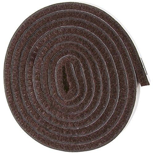 Self-Stick Heavy Duty Felt Strip Roll for Hard Surfaces (1/2' x 60'), Walnut Brown