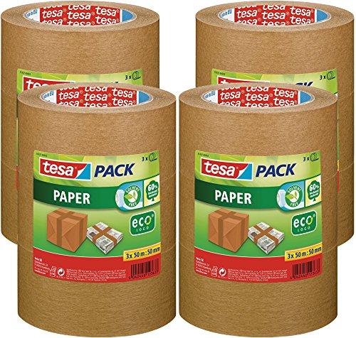 tesa Packband Papier, braun, 50m x 50mm, 12er Pack
