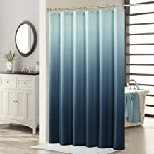 DS CURTAIN Ombre Microfiber Fabric Bathroom Curtains,Print Waterproof Polyester Shower Curtain,72