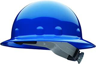 Fibre-Metal by Honeywell SuperEight Thermoplastic Full Brim Hard Hat with 8-Point Ratchet Suspension, Blue (E1RW71A000)