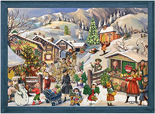 "Advent Calendar ""Mountain Village in Snow"""