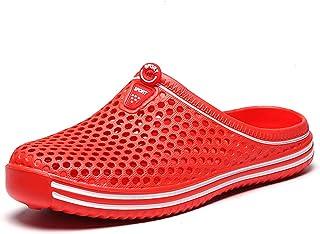 FDSVCSXV Slippers for Men Warm Mules Clogs Garden Shoes Winter Slipper Unisex Non-Slip Flip Flops,Red,39