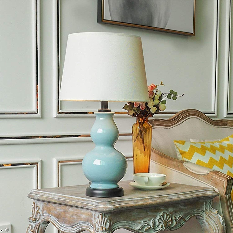 Stts Household Bedside Table Lamp, Decoration Desk Lamp, Studentye Protection Table Lamp, American Pastoral Ceramic Gourd Table Lamp Warm Living Room Bedroom Bedside Study Decorative Lights B07LBG8BPX | Online-Shop