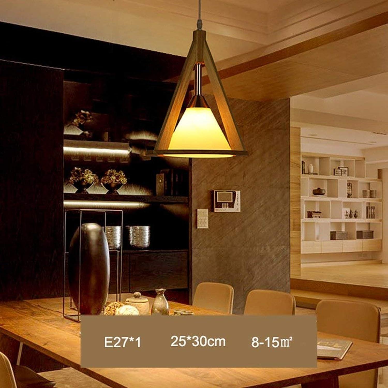 QAZ Lampe de table simple japonais trois têtes en bois massif Chambre Restaurant Bar Lustres LED Luminaires Lampe (Taille  Unique)