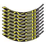 Pegatinas de bicicleta Bicicleta de montaña Control Roval SL29 pulgadas 25 mm Ancho Ancho Conjunto de ruedas Color Pegatina MTB Calcomanías de RIM (Color : Yellow)