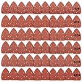 Papel de lija Asatrye 60pcs triángulo ratón detalle abrasivos discos de papel de hojas de lija...