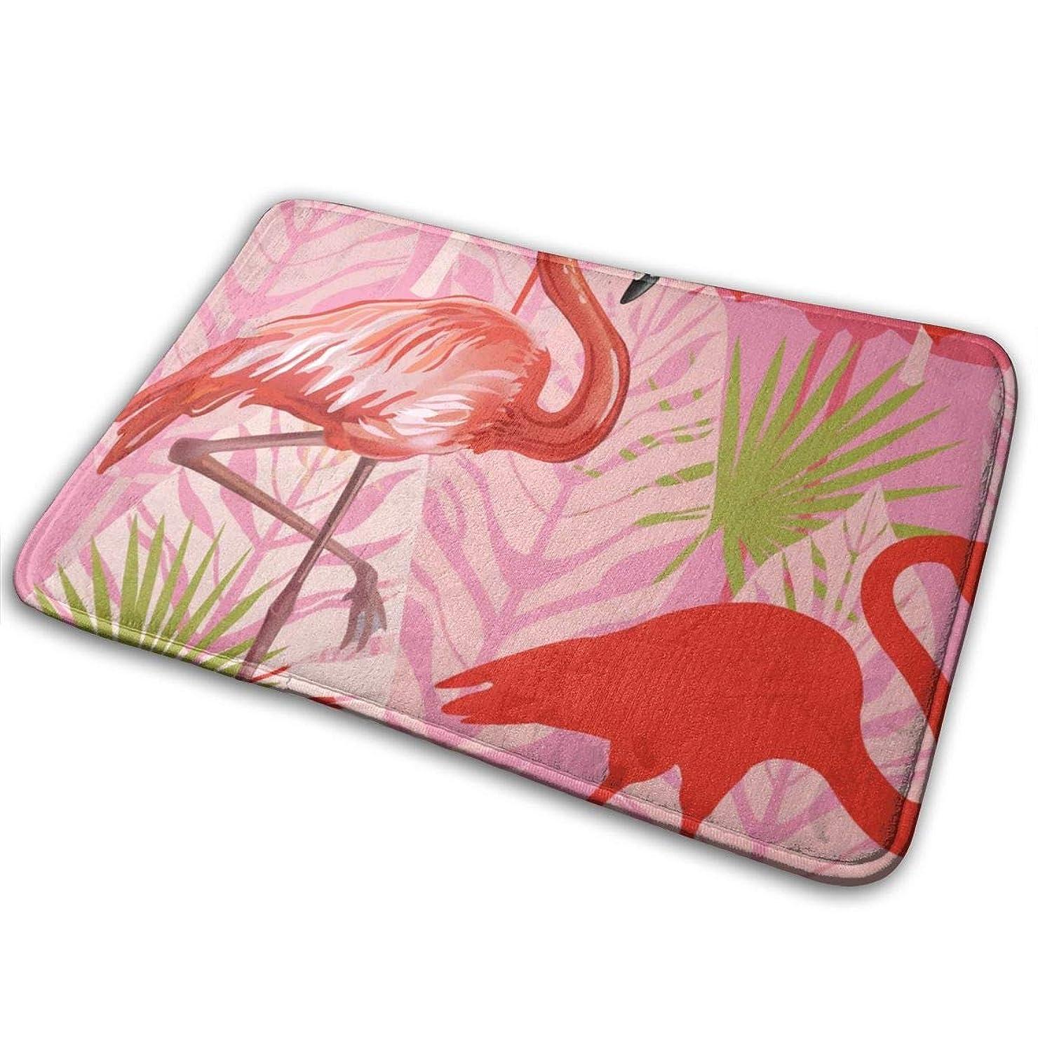 彼らバイバイ妨げるSweet Flamingos Roses Non Slip Door Mats Entrance Front Door Rug Shoes Mat Machine Washable Carpet 40x60cm