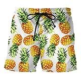 WHLDK Personnalité 3D Mode Maillot Ananas Plage Taille De Pantalon Liberté Occasionnel Timbre Pantalons Hommes Map Color M Shorts