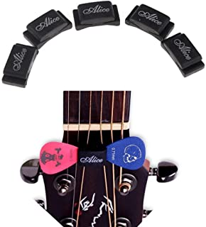 Imelod Pick Holder for Guitar Bass Ukulele, Multi Packaged, 5pcs per Package, Rubber Pick Holder Fix on Headstock Between String 3 & 4, D & G