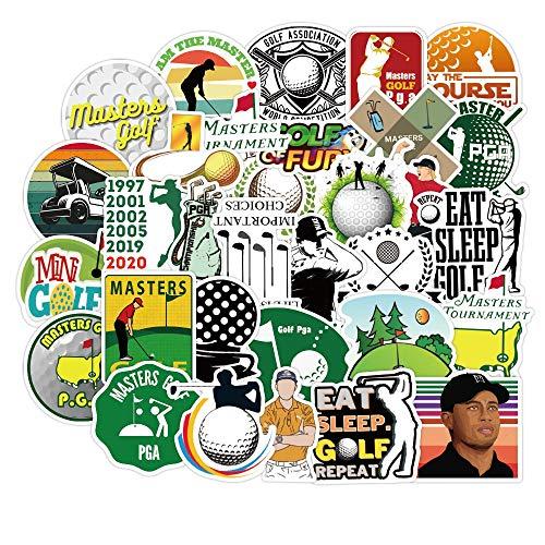 YOUKU Pegatinas de Graffiti de Deportes de Golf para DIY, portátil, Motocicleta, monopatín, Ordenador, teléfono, Maleta, calcomanía para Coche, 50 Uds.