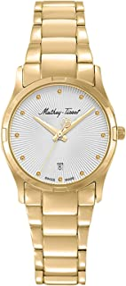 Mathey Tissot Elisa Women's Gold Dial Stainless Steel Band Watch - D2111PI