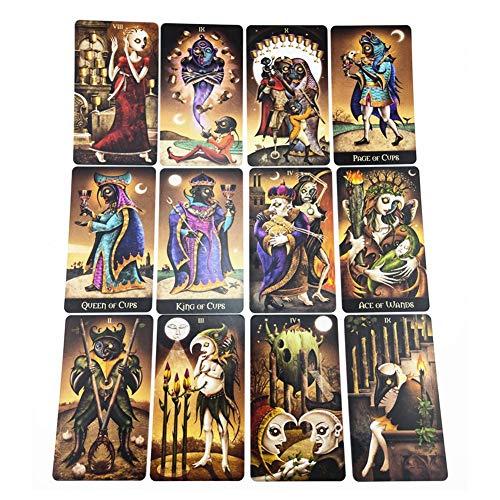 Deviant Moon Tarot: 78 full colour kaarten, energie uit het cirkelvormig patroon van Lunatic Spread, Engelse versie