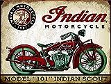 KODY HYDE Póster De Pared Metal - Indian Motorcycle - Cartel De Chapa Vintage Estaño Signo Decorativas Hojalata Placa para Bar Cafe Oficina Habitación Garaje